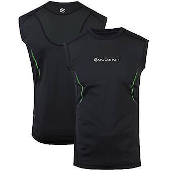 UFC Octagon Exo Sleeveless Athletic Top - Black