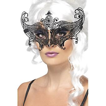 Farfalla benátská maska dušená kovová