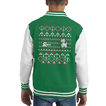Its Dangerous To Go Alone At Christmas Legend Of Zelda Kid's Varsity Jacket