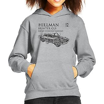 Haynes Workshop Manual 0033 Hillman Hunter GLS Black Kid's Hooded Sweatshirt