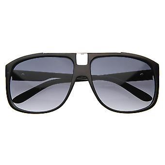 Mens Eyewear Modern Fashion Square Aviator Style Sunglasses w/ Metal Crossbar