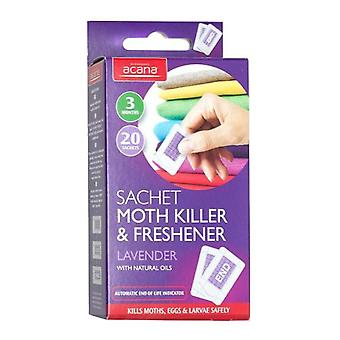 Acana Moth Killer & Freshener 20x Sachets for Drawers from Caraselle