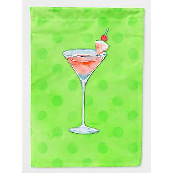 Summer Martini Green Polkadot Flag Canvas House Size