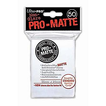 Trading Card Sleeves 50 Standard Sized Pro Matte Deck Protectors - White