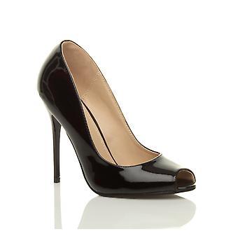 अजवानी महिलाउच्च एड़ी पार्टी सालाना जलसे काम पंप झांकना टो कोर्ट जूते सैंडल
