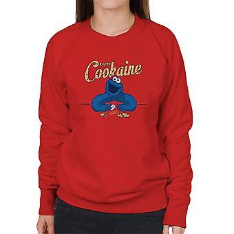 Sesame Street nauttia Cookaine Cookie Monster Naisten huppari