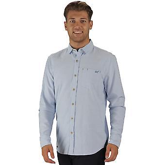 Regatta Mens Benas lange mouw Check patroon knop omhoog Shirt