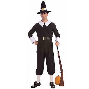 Pilgrim Colonial Olden Day Pioneer Victorian Book Week Mens Costume STD