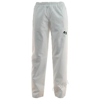 White Bowling Waterproof Trousers Sizes Small - 5XL