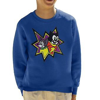 Courageous Cat And Minute Mouse Kid's Sweatshirt