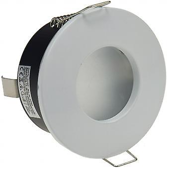 Projecteurs encastrés «FRR-84», rond, blanc mat vitre frontale pour pièces humides IP44,