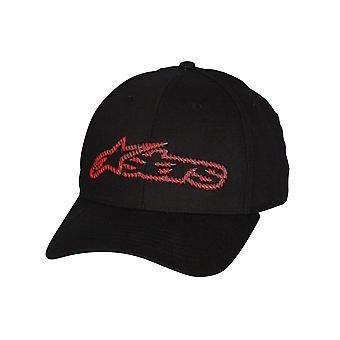 Alpinestars Medium curva flessibile Cap ~ Blaze Fader Nero/rosso