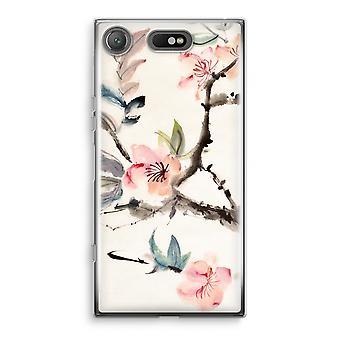Sony Xperia XZ1 kompakte Transparant Gehäuse (Soft) - Japenese Blumen