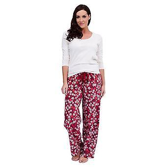 Ladies Tom frankerne Floral Print vinteren lang Pyjama pyjamas Sleepwear