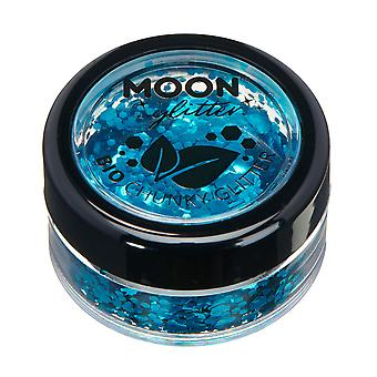 Biodegradable Eco Chunky Glitter by Moon Glitter - 100% Cosmetic Bio Glitter for Face, Body, Nails, Hair and Lips - 3g - Blue