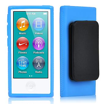 TRIXES blu Clip Gel TPU per nuovo Apple iPod Nano 7 ° generazione Cover Shell