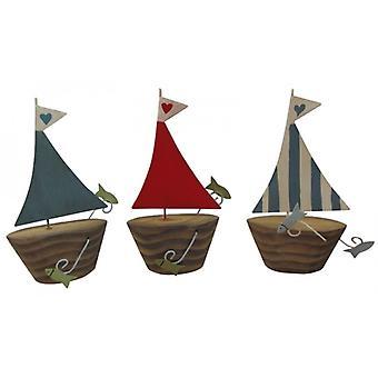 Shoeless Joe Set of 3 Nautical Boat Bathroom Decorations