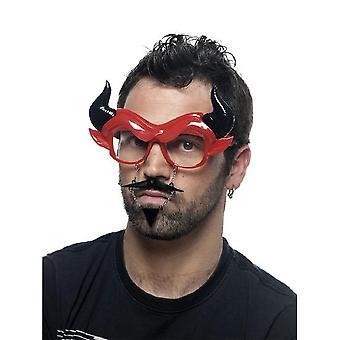 Brille Sonnenbrille Scherzbrille Brille als Teufel Devil Satan