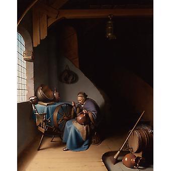 An Interior mit A, REMBRANDT Harmenszoon van Rijn, 51,5 x41cm