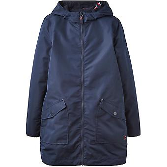 Joules Womens Dockland Long Length Hooded Reversible Parka
