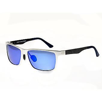 Raça Vulpecula Titanium polarizada óculos de sol - prata/roxo-azul