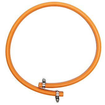 New CALOR GAS 8mm x 1m Hose And Clip Camping Cooking Equipment Orange