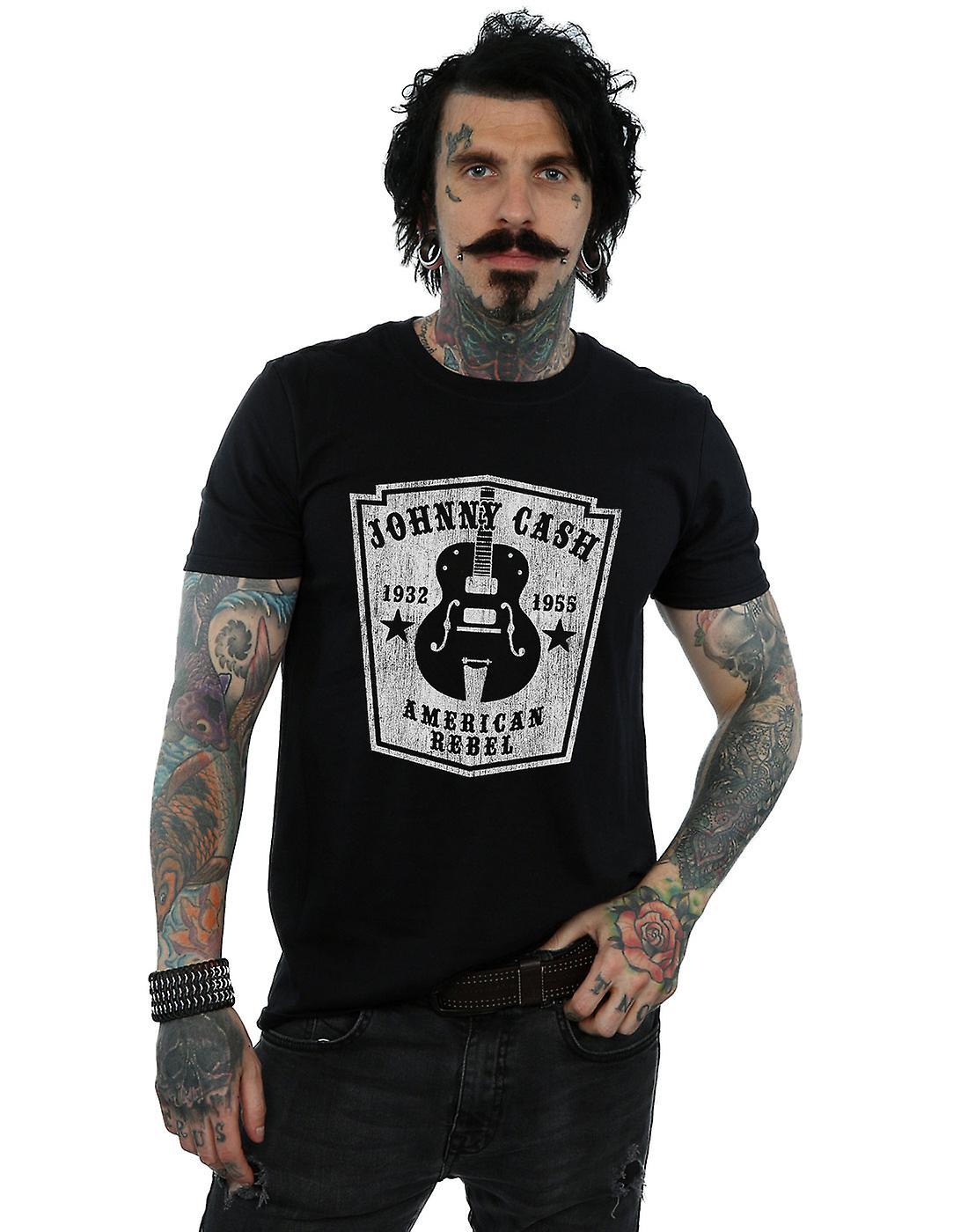 Johnny Cash Men's Rebel Guitar T-Shirt