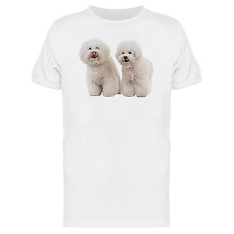 Two Bichon Frise Dogs Tee Men's -Image by Shutterstock