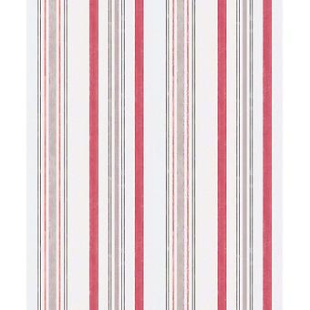 Pink White Taupe Stripes Wallpaper Vinyl Paste The Wall Textured Erismann Claire