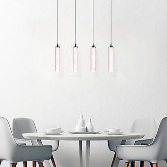 Meteor moderne lustre LED 4 pendentif lampe rectangulaire couvert de verre neuf