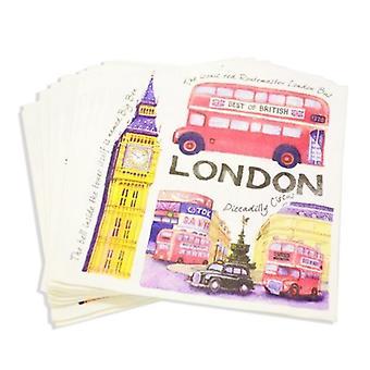 Union Jack indossare tovaglioli iconica Londra - British a tema Party tovaglioli
