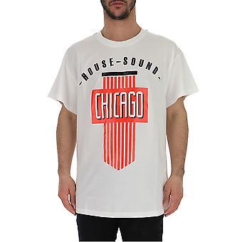 Amen Mes19261001 Hombres's Camiseta de algodón blanco