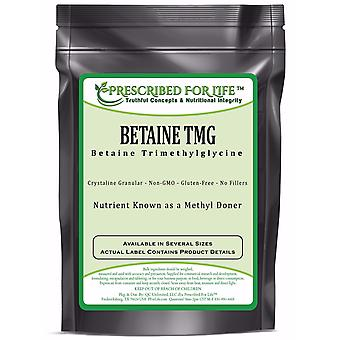 Betaine Anhydrous (TMG) - Pure Trimethylglycine Powder - Reduce Homocysteine Levels