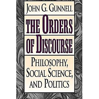 The Orders of Discourse: Philosophy, Social Science and Politics