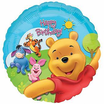 Anagram 18 Inch Disney Winnie The Pooh Happy Birthday Circular Foil Balloon
