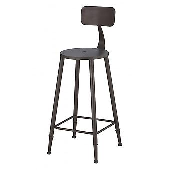 Fusion Living Graphite Grey Metal Foundry Bar Stool