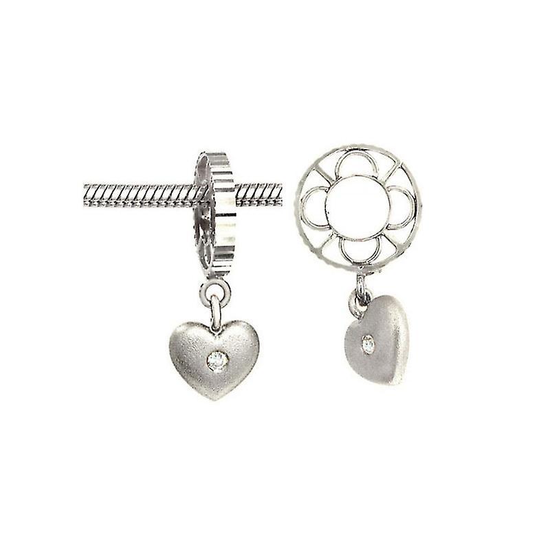 Storywheels Silver Heart Dangle Charm S020SAND