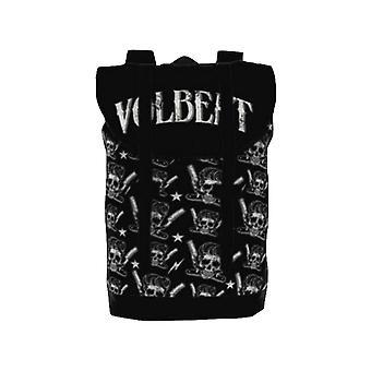 Volbeat Backpack Heritage Bag Barber Skull Band Logo allover new Official Black