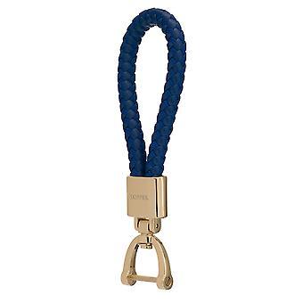 Skipper riipus avaimen perä nahka/Nylon kulta/sininen 8051