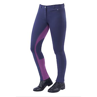 Dublin Supa-fit Childrens Pull On Euro-seat Jodhpurs - Graphite/violet