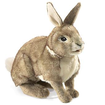 Hand Puppet Folkmanis Rabbit Cottontail Animals Soft Doll Plush 2891