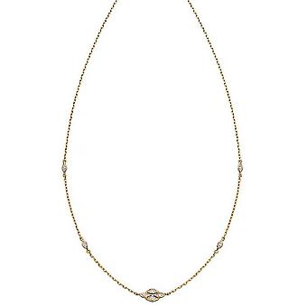 Elements Gold Deco Diamond Necklace - Gold/Silver