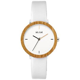 Mam Watches Ferra Watch for Japanese Quartz Analog Woman with Cowskin Bracelet 677