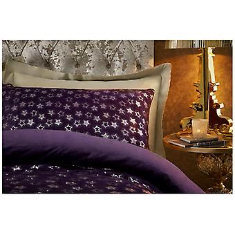 Velvet Touch Fleece Star Foil Pair Pillow Cases Warm and Cosy in Colours