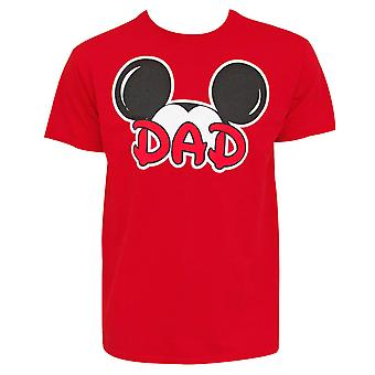 Mickey Mouse Dad Ears Men's Red T-Shirt