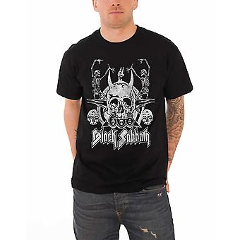 Black Sabbath T paita musta tanssia luurankoja yhtyeen logo virallisen miesten