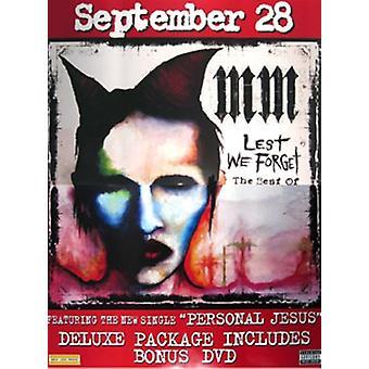 Marilyn Manson (den bästa av) (set om 2) original musik affisch