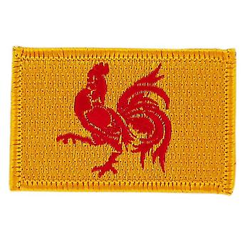 Patch Patch Brode Flag Wallonia Vallonian Thermocollant insigne Blason