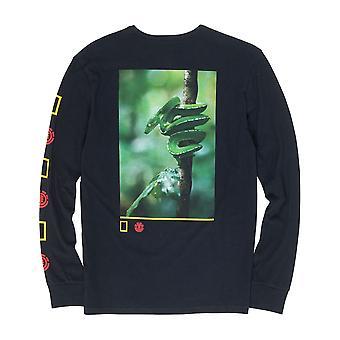 Element Serpent pitkähihainen T-paita Flint musta