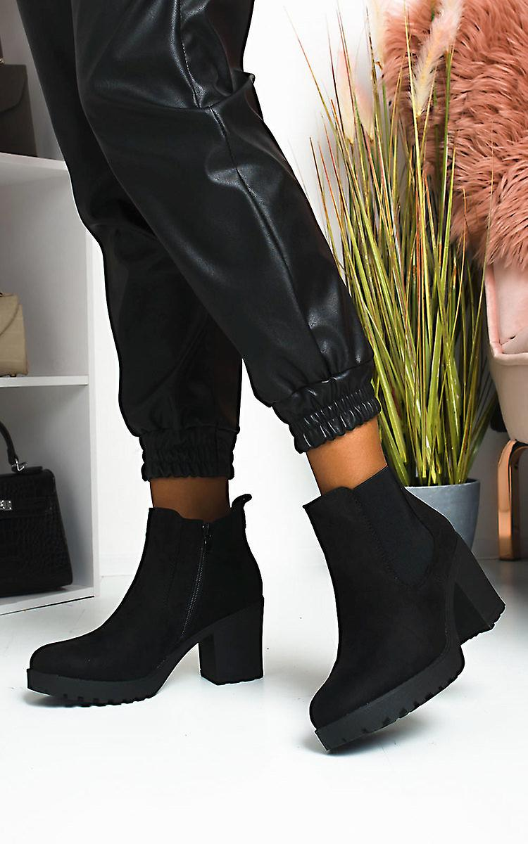 IKRUSH Womens Niccy Heeled Chelsea Boots 8zrKY
